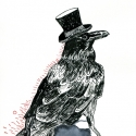 Raven with Hat